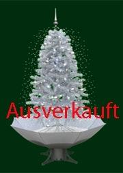 Schneiender Weihnachtsbaum.Schneiender Weihnachtsbaum Weiß Silber
